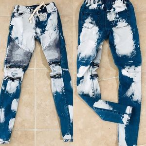 AMERICAN Acid Wash DECONSTRUCTED JEANS Small